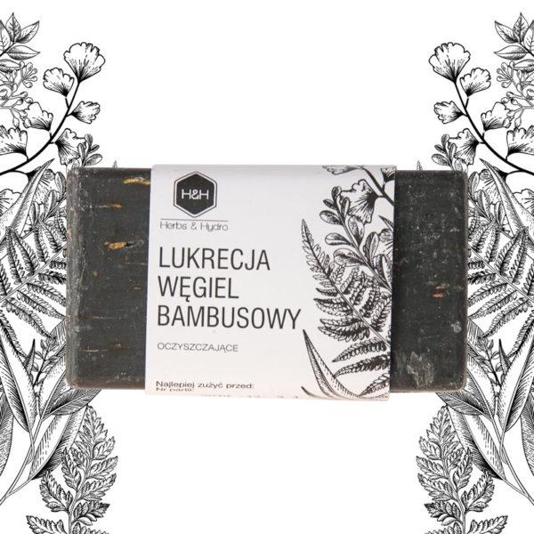 Mydło PURE BOTANIC Lukrecja Węgiel Bambusowy