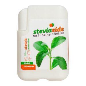 STEVIASIDE - stewia - naturalny słodzik w tabletkach - 200 tabl