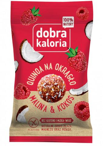 Quinoa na okrągło - malina&kokos