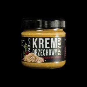 Krem orzechowy z dodatkiem sezamu i żurawiną 190 g