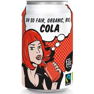 Napój gazowany o smaku cola Fair Trade BIO 330ml (puszka) - oxfam