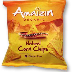 Kukurydziane chipsy bezglutenowe z solą 75 g.