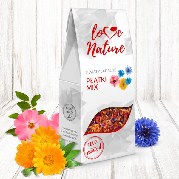 Płatki mix kwiaty jadalne 10g