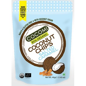 Chipsy kokosowe z karmelem i z solą prażone Bezglutenowe BIO 40 g