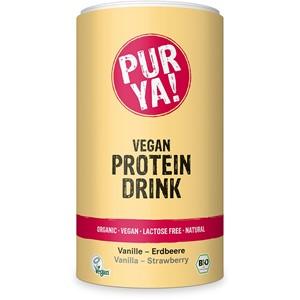 Napój białkowy w proszku o smaku wanilii z truskawką BIO 550 g - PUR YA!
