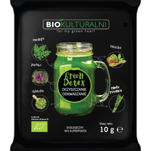 Ekologiczny mix superfoods GREEN DETOX (Oczyszczanie Odkwaszanie) 10 g