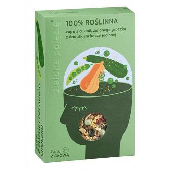 Zupa z Cukinii i Zielonego Groszku z Dodatkiem Kaszy Jaglanej 100 g