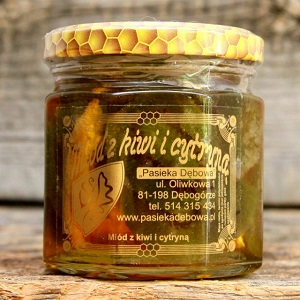 Cytryna i kiwi w miodzie 200g