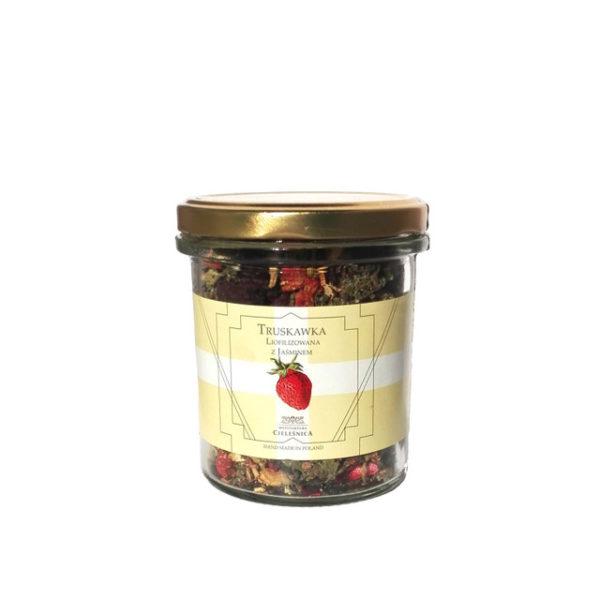 Herbata zielona z truskawką liofilizowaną i hibiskusem 40g