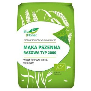 Mąka pszenna razowa typ 2000 BIO 1kg