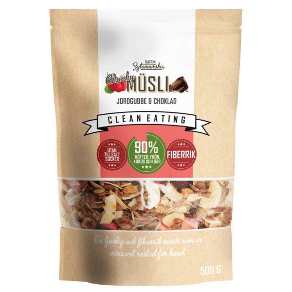 Chrupiące Musli Truskawka i Czekolada (bez dodatku cukru) 500 g
