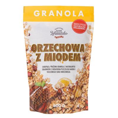 Granola orzechowa z miodem (bez dodatku cukru) 400g