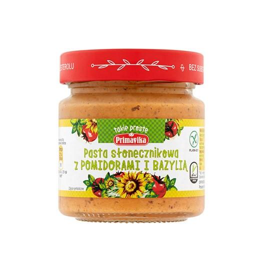 pasta słonecznikowa pomidory bazylia