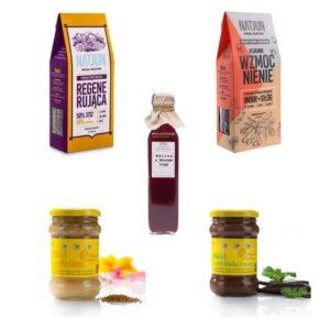 "20 produktów ""Herbata, miód i syrop"""