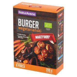 Burger wegetariański warzywny - 8 porcji - 200g