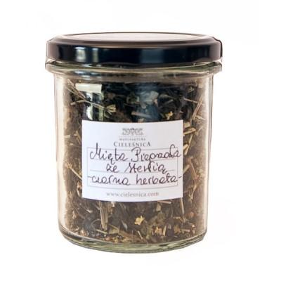 Czarna herbata mięta pieprzowa ze stewią 60g