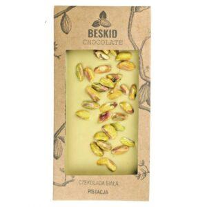 Czekolada biała z pistacjami - bean to bar 100g