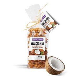 Ciastka owsianki z wiórkami kokosowymi 175g