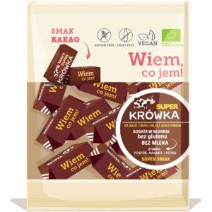 Super krówki bezmleczne kakaowe (bez laktozy, eko) 150g