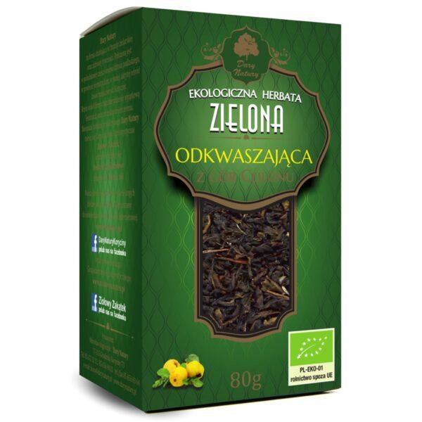 Herbata Zielona odkwaszająca Eko 80 g.