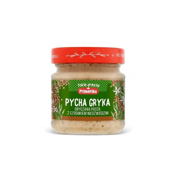 Pycha gryka - gryczana pasta z czosnkiem niedźwiedzim 160g