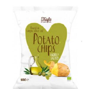 Chipsy ziemniaczane pieczone na oliwie z oliwek BIO 100g