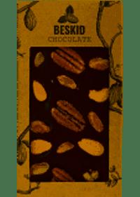 Czekolada ciemna z mixem orzechowym - bean-to-bar 100g